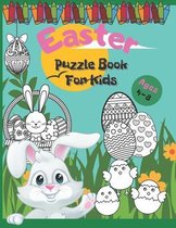Easter Puzzle Book For Kids Ages 4-8