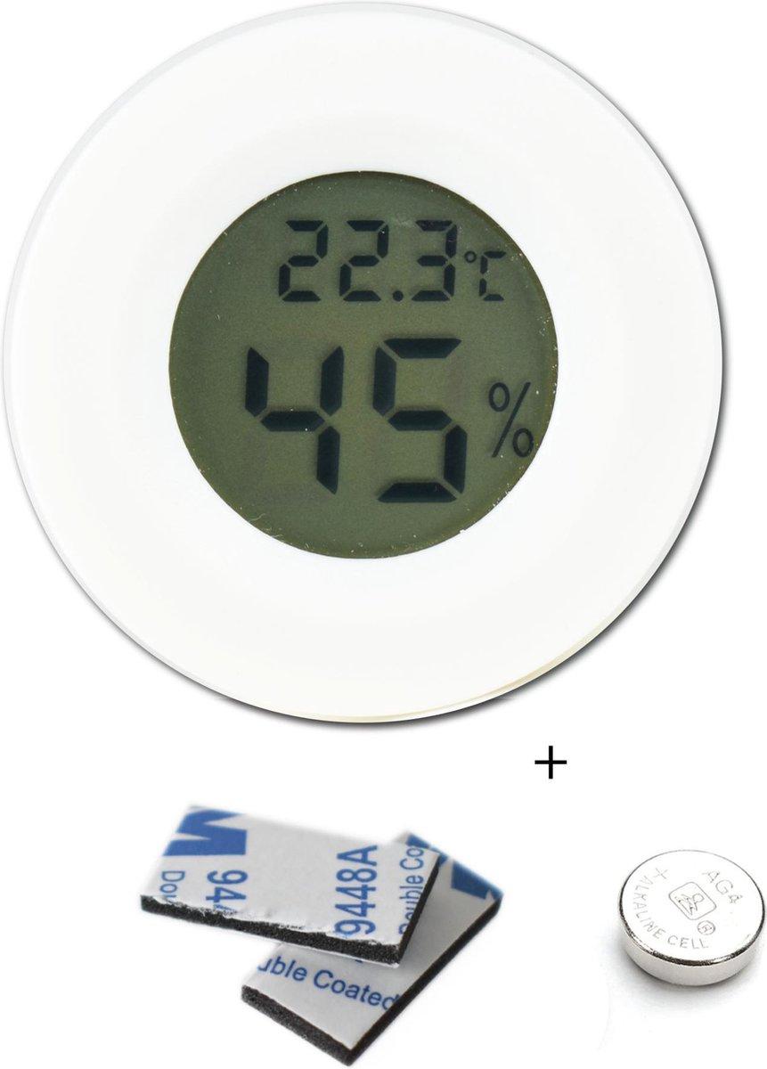 Tool Meister TM2 - Professionele hygrometer en temperatuurmeter - 2 in 1 - Digitaal - Voor buiten en