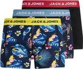Jack & Jones jongens boxershort 3-pack -  Surf the web Black