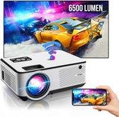 "Strex Beamer - Input tot Full HD - 6500 Lumen - Streamen Vanaf Je Telefoon Met WiFi - Mini Projector - Incl. 100"" Projectiescherm"