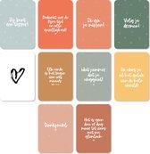 Wenskaarten set - Afscheid collega - 10 verschillende kaarten - A6