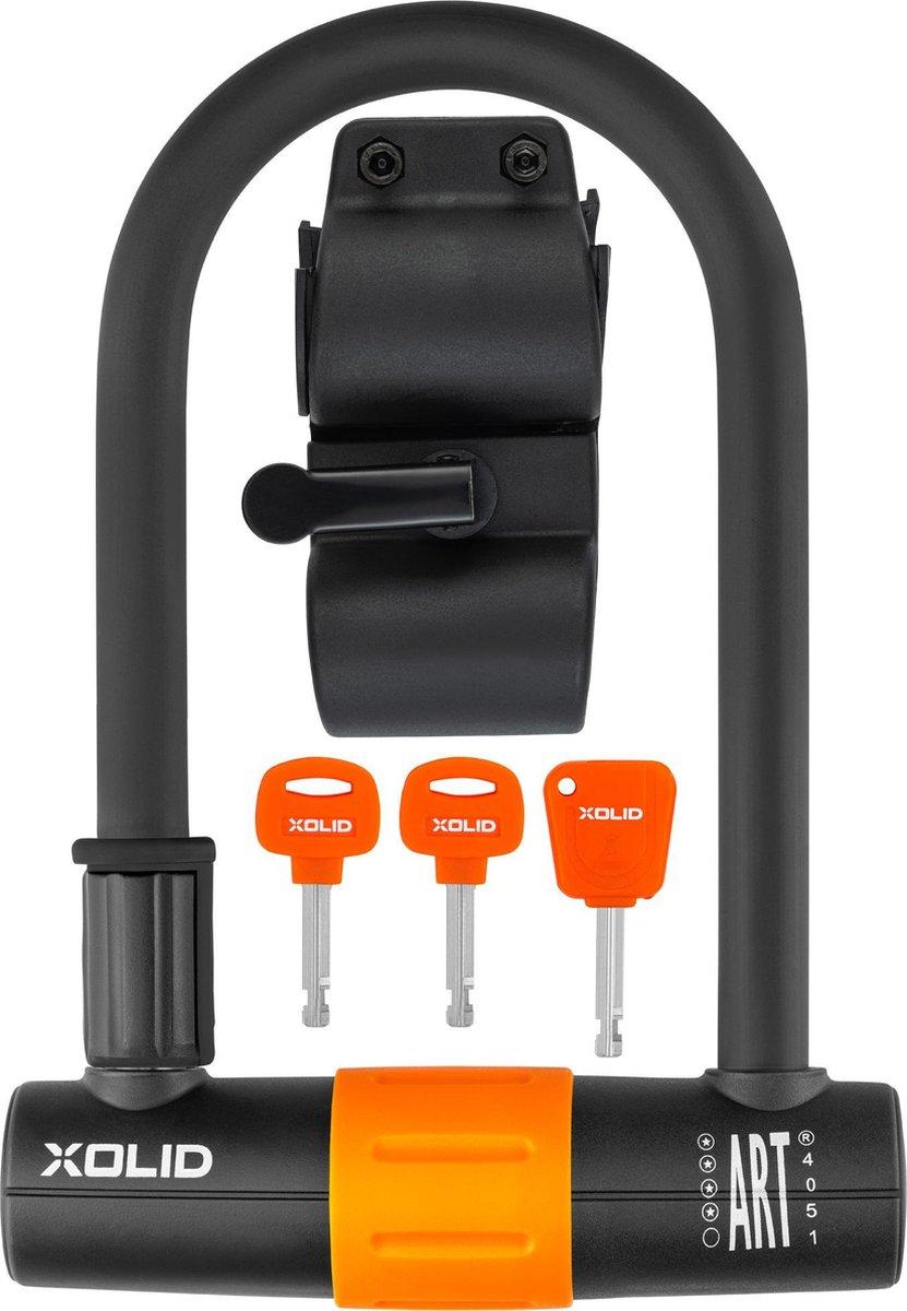 Xolid Beugelslot 180 X 245mm   ART4 keurmerk   Sleutel met LED licht   Fietsslot Scooterslot Motorsl