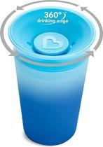 Munchkin Miracle  beker  sippy -  van kleur veranderend - 360 colour changing sippy cup blauw