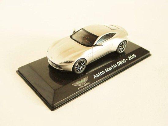Aston Martin DB10 2015 (Zilver) (10 cm) 1/43 Atlas - Modelauto - Schaalmodel - Model auto - Miniatuurauto - Miniatuur autos