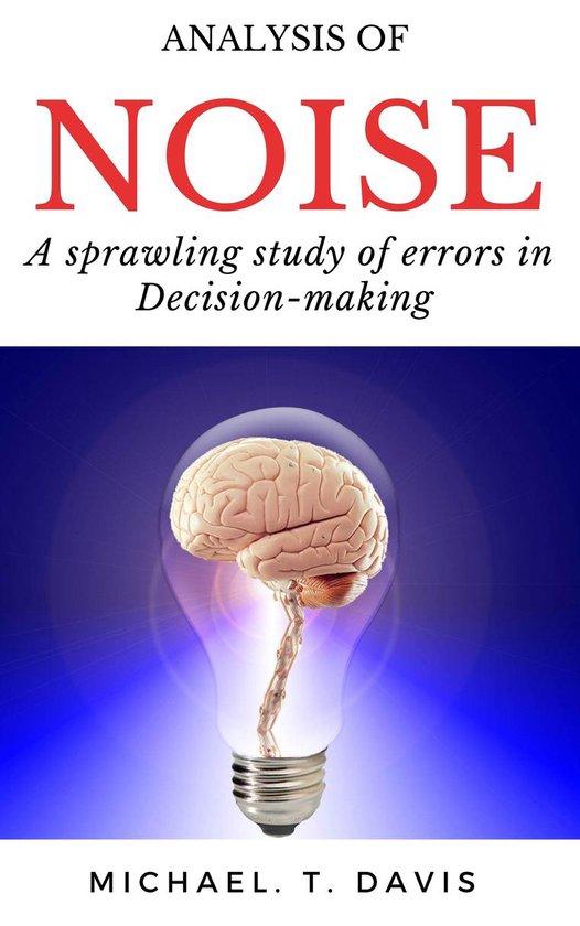 Boek cover Analysis of NOISE van Michael. T. Davis (Onbekend)