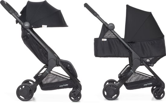 Product: Ergobaby Metro Compact buggy 2020 zwart met Newborn Kit zwart, van het merk Ergobaby