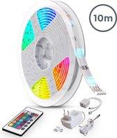 B.K.Licht - LED strip - 10 meter - RGB kleurverandering - dimbaar - incl. afstandsbediening - zelfklevend