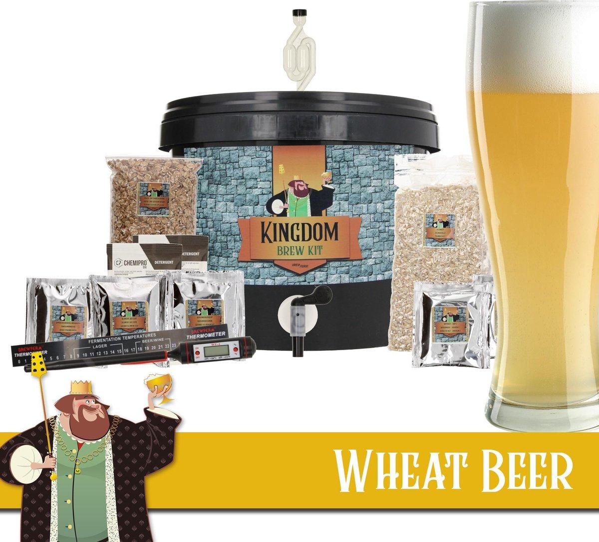 KINGDOM Bierbrouwpakket  - startpakket - Witbier - zelf bier brouwen - starterspakket bier brouwen -