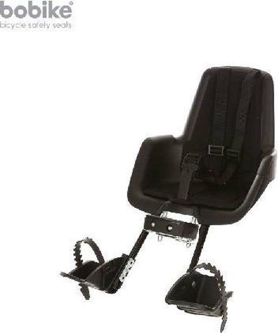Bobike Mini Classic - Fietsstoeltje voor met Kussenset - Urban Zwart - Bobike