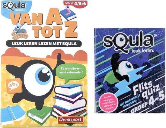 Afbeelding van het spel Squla - Leuke leren - Groep 4-5-6 - Set van  2 -  Van A tot Z -  Reken Maar Uit - Denksport