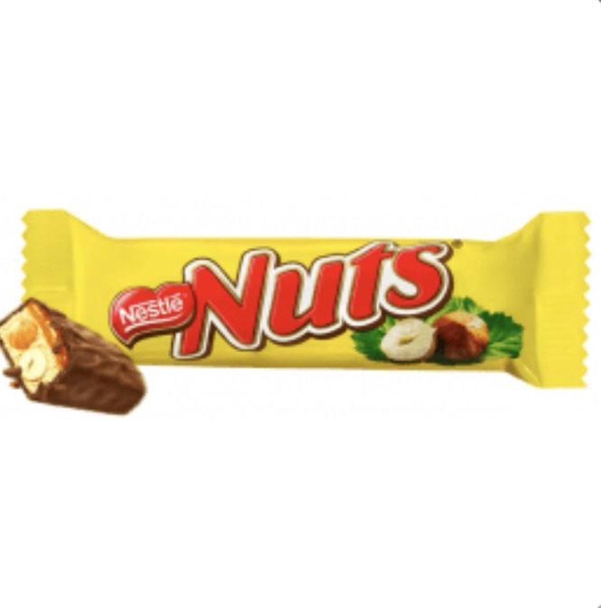 Nuts single 24x42gram-chocoladereep met hazelnoten