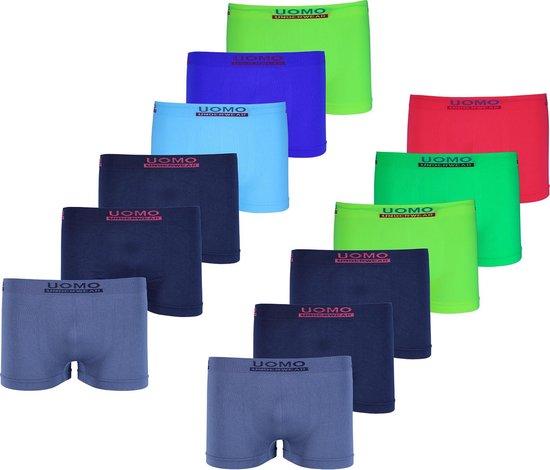 Microfiber Boxershort jongens 915 - Jongens ondergoed - VOORDELIGE 12 PACK 164/176 14-16 jaar