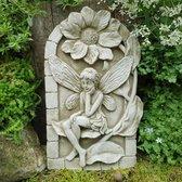 Betonnen wandplaat Rustende elf - tuinbeeld