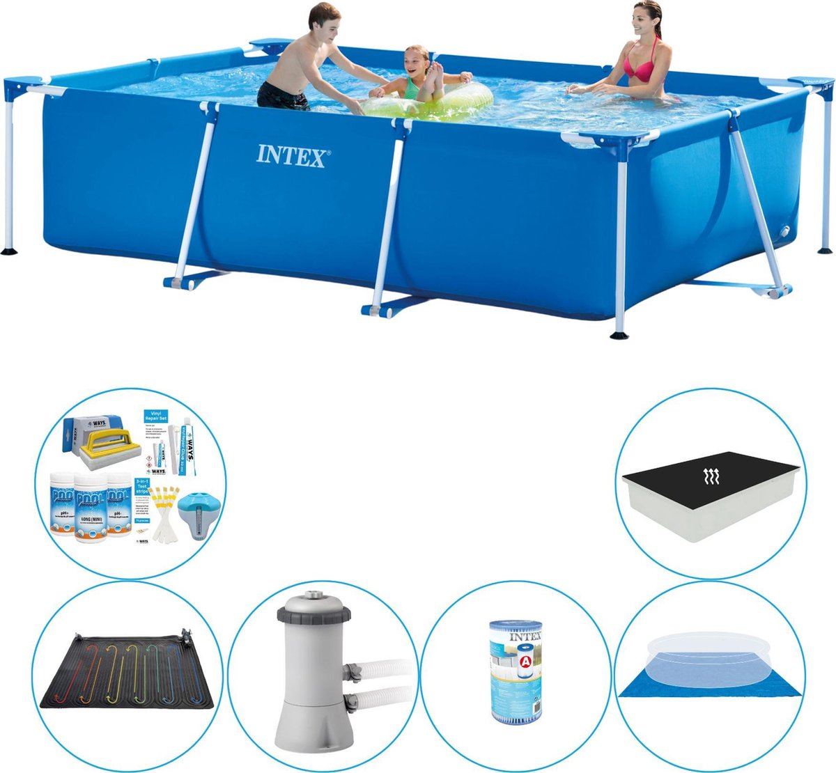 Intex Frame Pool Rechthoekig 300x200x75 cm - Slimme Zwembad Deal