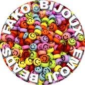 Fako Bijoux® - Letterkralen - Emoji / Smiley Kralen - Acryl - 7mm - Sieraden Maken - 250 Stuks - Mix