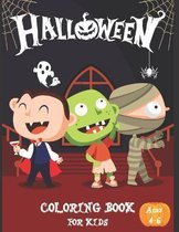 Halloween Coloring Book For Kids Ages 4-6