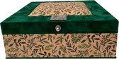 The Box For Tea Groene Theedoos met Thee Cadeau - 9 vaks - Groen