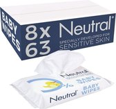 Neutral babydoekjes sensitive 8x 63 stuks