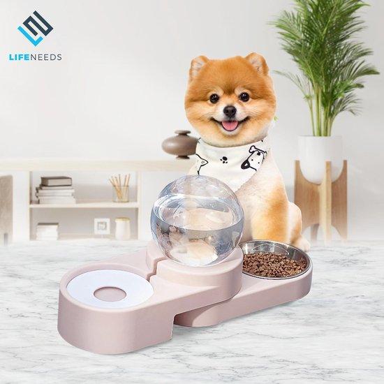 Automatische voerbak INCL RVS Bakje - voor kat en hond - automatische...