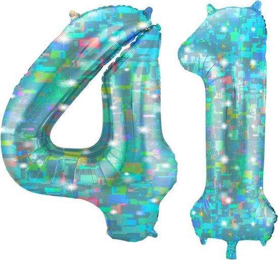 Cijfer 41 Galactic Aqua (86cm)