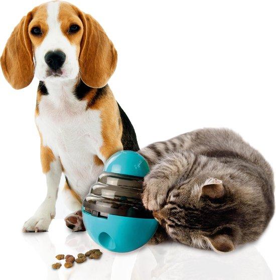 Easy Life - voerautomaat - voerbak kat - voerbak hond - anti schrok - automatische voerbak - kattenspeeltje - honden speelgoed - Blauw