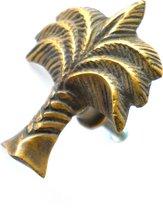 Vintage gouden kastknoppen van messing - Interieur Design - Set van 2 - Palmboom - Lade knop - Deurknop  - Meubelknop - Handgreep - Handvat- Handgemaakt- Bali - Indonesisch - Retro - Decoratie - Surf style - Bali Vibe