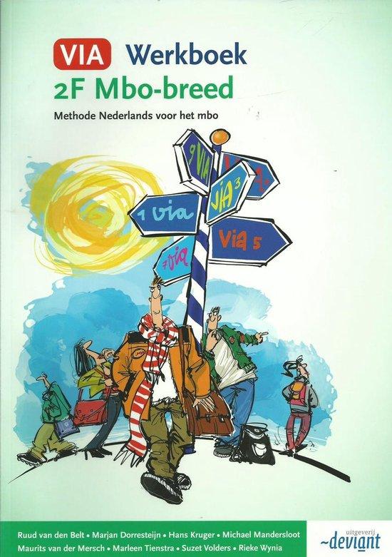 Boek cover VIA 2F Mbo-breed Werkboek van Ruud van den Belt (Paperback)