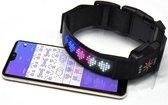 Honden Smart Halsband Smart LED USB oplaadbaar bluetooth connect met smartphone halsband