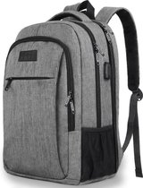 TravelMore Daily Carry XL Backpack - 17,3 inch Laptop Rugzak - Dames/Heren - 36L - Waterafstotend - Grijs
