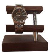 Horloge houder - Horloge standaard - Watch stand - Luxe notenhout - Universeel - Handgemaakt - StandArt - Duurzaam