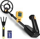 DETECT-IT Metaaldetector - Voor kinderen - Waterdicht & Lichtgewicht - LCD Scherm - Verstelbaar - Inclusief Batterijen en Hark