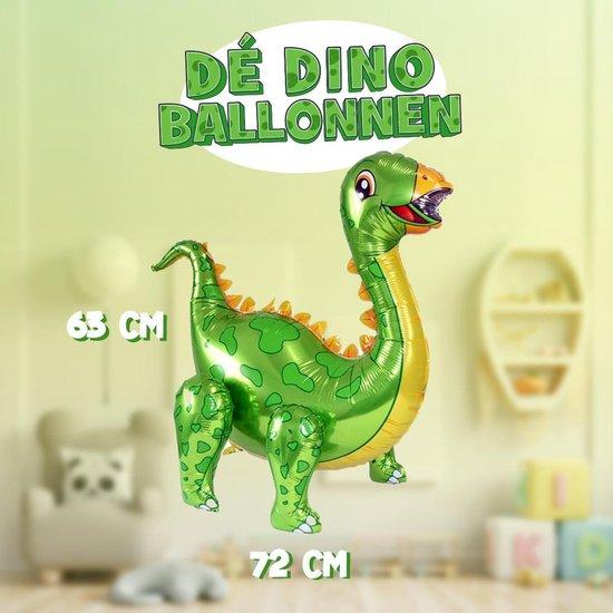 XXL 3D Dinosaurus Ballon met losse opblaasbare poten! | 63cm hoog | Blaas hem op en beweeg de handen en voeten | Eenvoudig staand neer te zetten of zwevend met helium