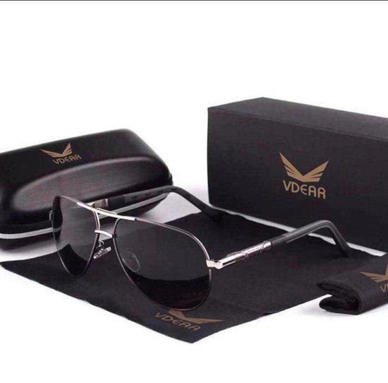 KingSeven BlackStar - Pilotenbril met UV400 en polarisatie filter