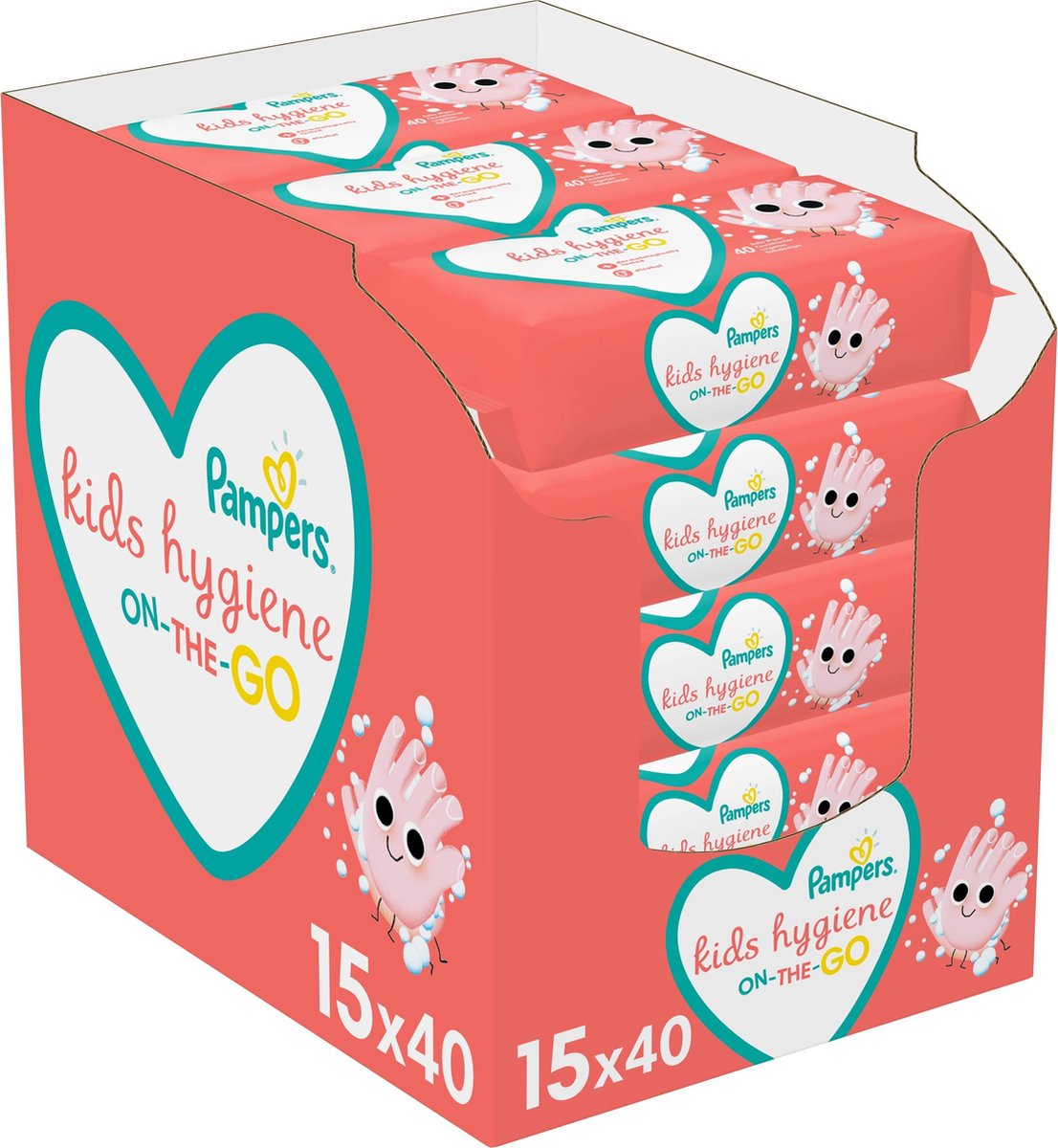 Pampers Kids Hygiene On-The-Go Babydoekjes - 600 stuks