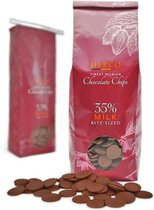 Herco Chocolate Chips - 35% Milk Bite-Sized - Melkchocolade - 1 kg