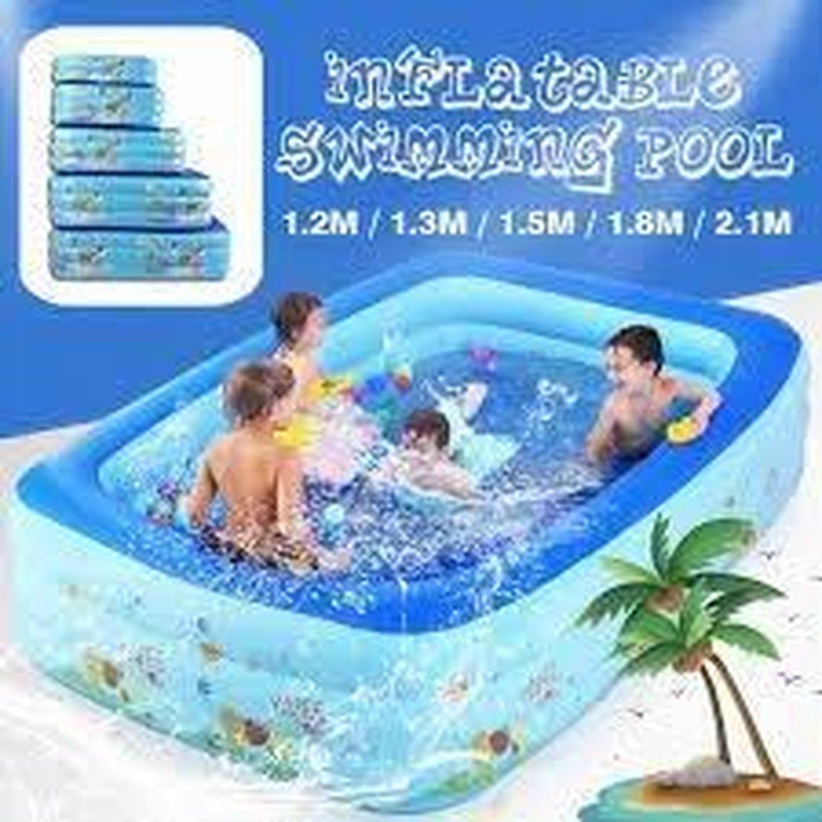 Zwembad Bad~Outdoor Grote Zwembad Opblaasbare Vierkante zwembad