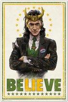 Loki poster Marvel superheld - Avengers - Believe  61x91.5cm