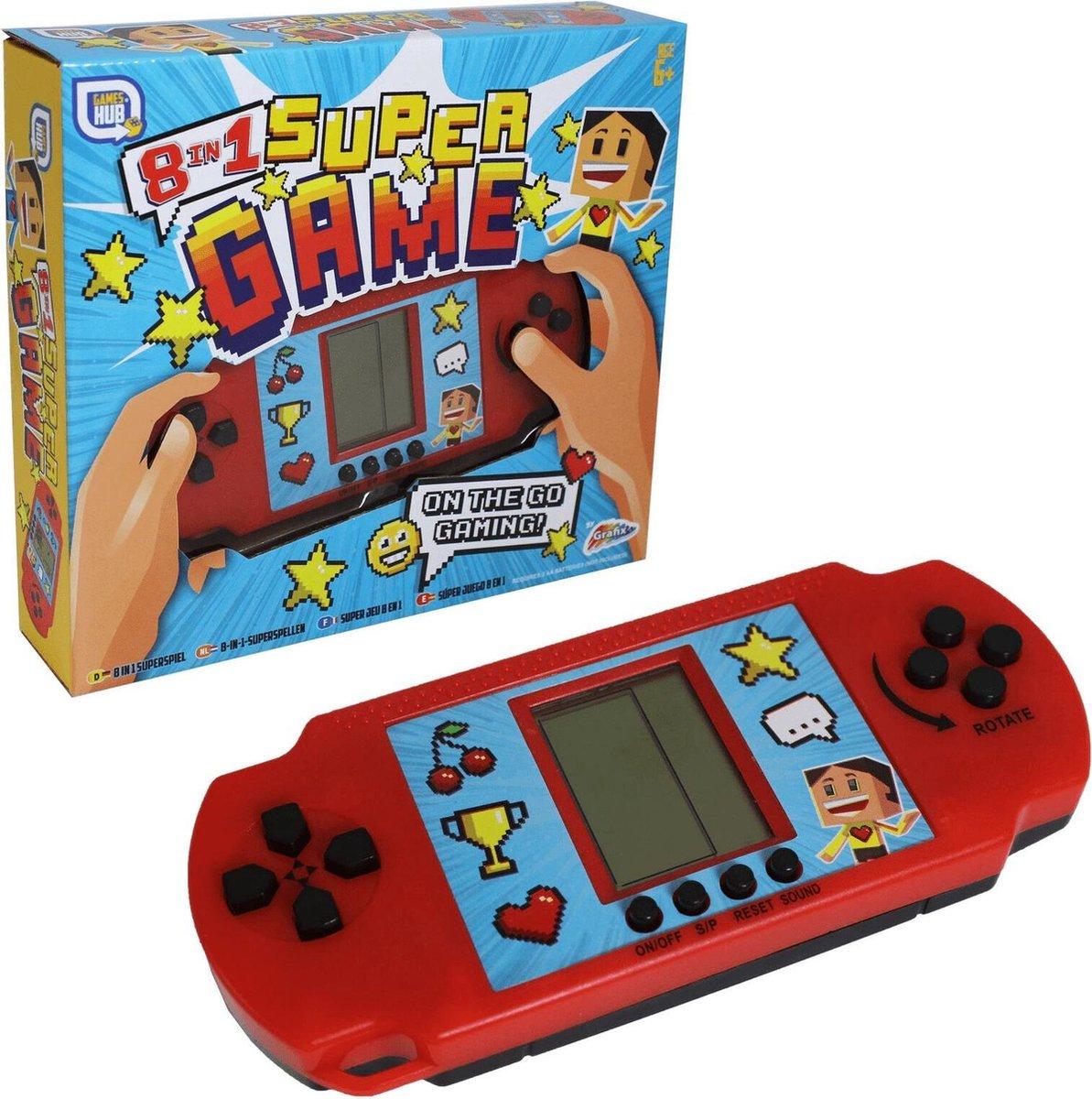 Grafix Spelcomputer 8-in-1 Supergame Junior Rood