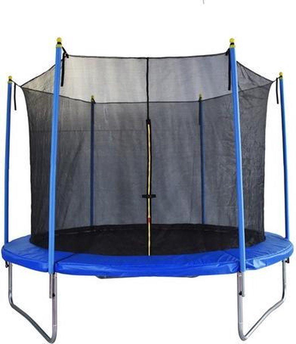 I Wannahave Trampoline met Veiligheidsnet - Blauw Zwart - 183 cm