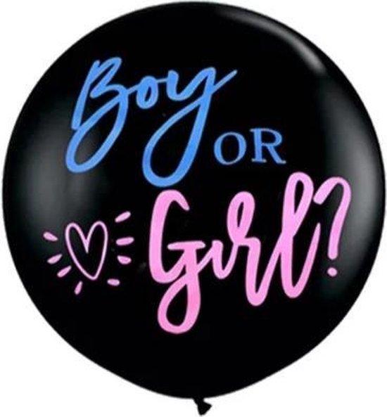 Gender Reveal Ballon - Gender reveal versiering - Boy or Girl - Babyshower - 90 cm - Zwangerschap