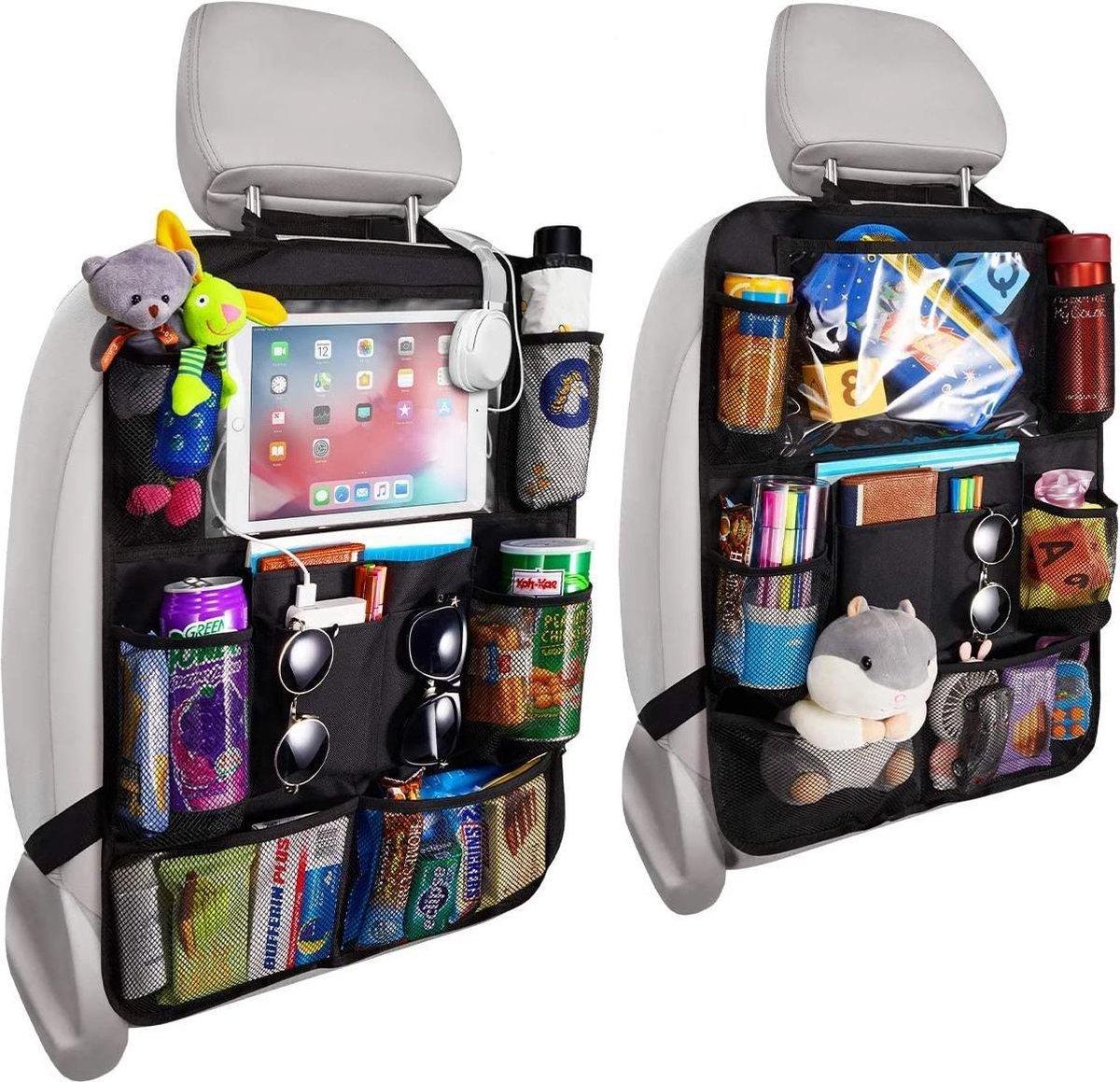 Venneweide, Autostoel organizer de luxe, Auto organizer voor baby en kids, met tablethouder voor o.a
