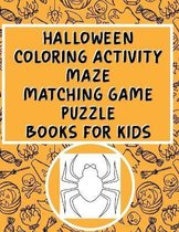 Halloween Coloring Activity Maze Matching Game Puzzle Books For Kids