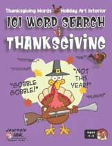 Thanksgiving Word Search Book for Kids Ages 4-8