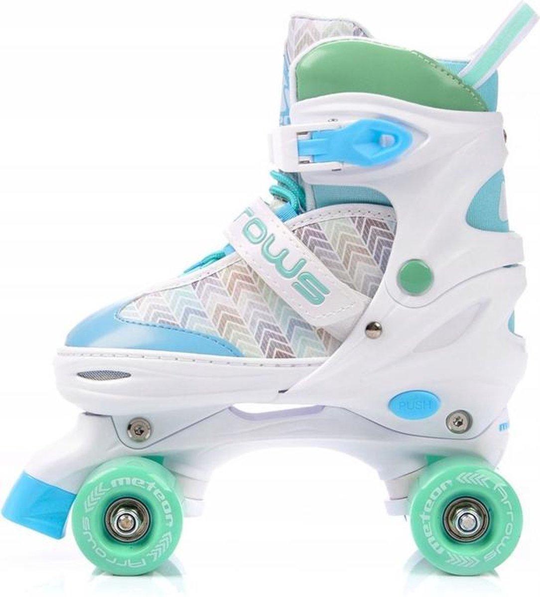 * Meteor * rolschaatsen * mint groen/licht blauw * Summer * maat: 39-42 *