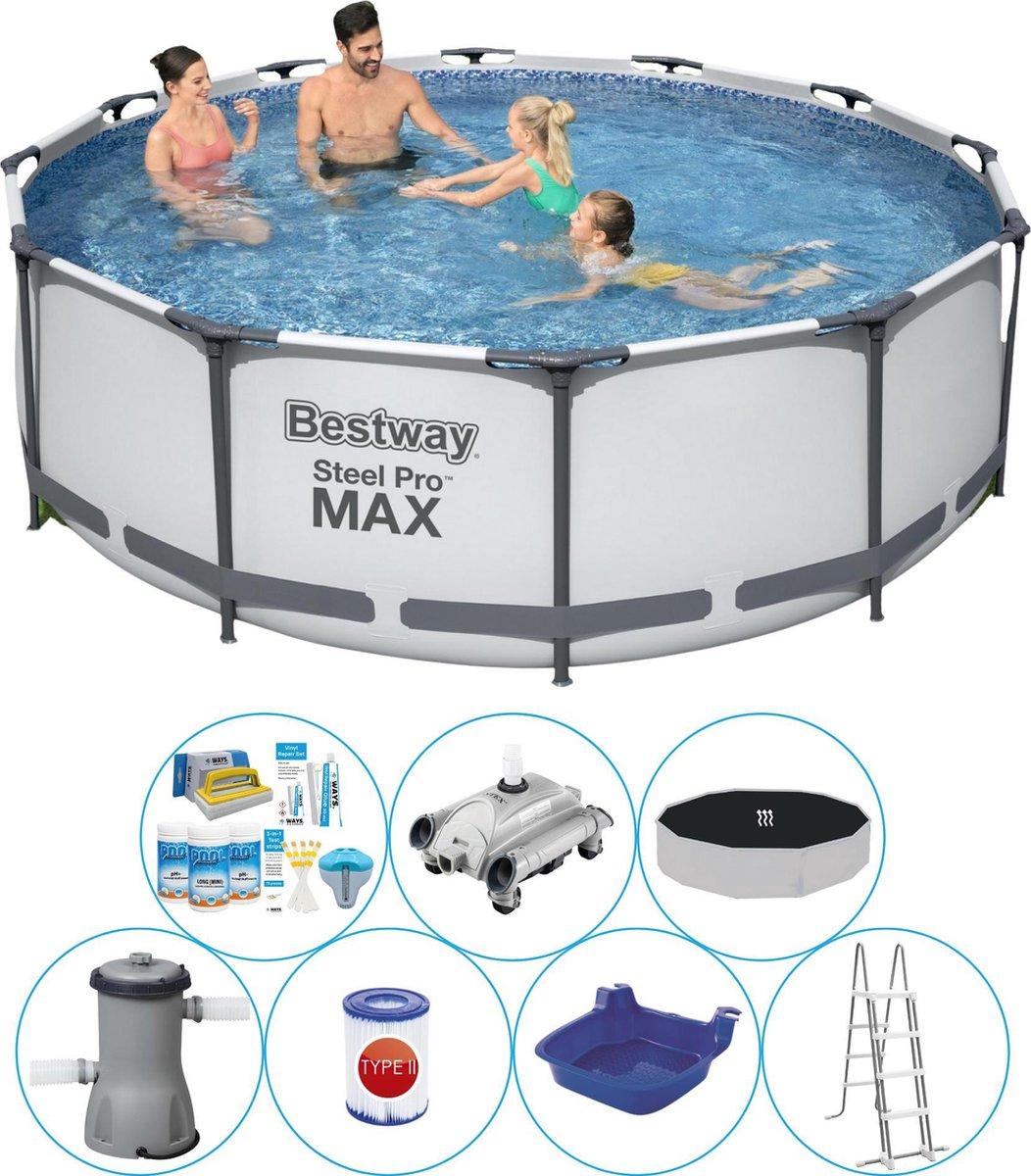 Zwembad Combinatie Set - Bestway Steel Pro MAX Rond 366x100 cm
