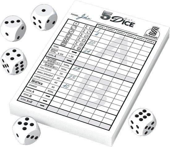 Afbeelding van het spel 999 Games Dobbelspel 5 Dice Small Papier 6-delig