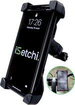 iSetchi® Telefoonhouder Fiets - Universeel - Draaibaar - Anti Shock & Vibratie -  Ook Voor Scooter & Motor