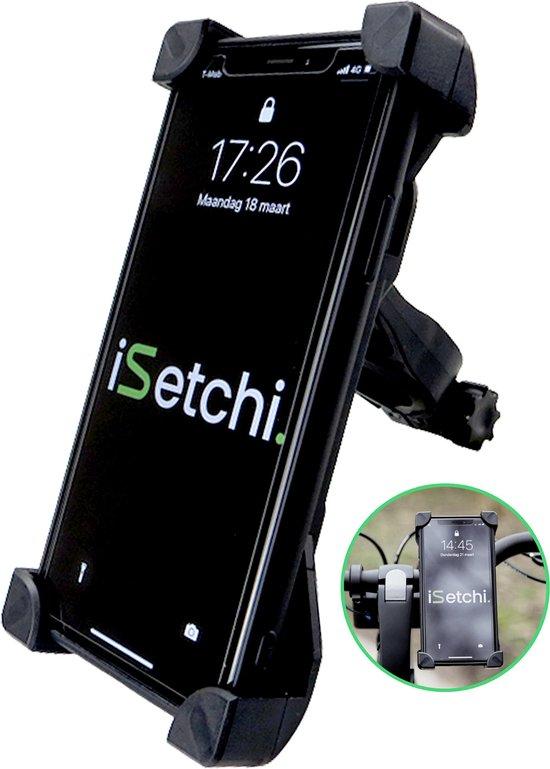 iSetchi Telefoonhouder Fiets - Universeel – 360 Graden Draaibaar - Anti Shock & Vibratie – GSM Mobiel Houder - Fietshouder ook Voor Scooter & Motor