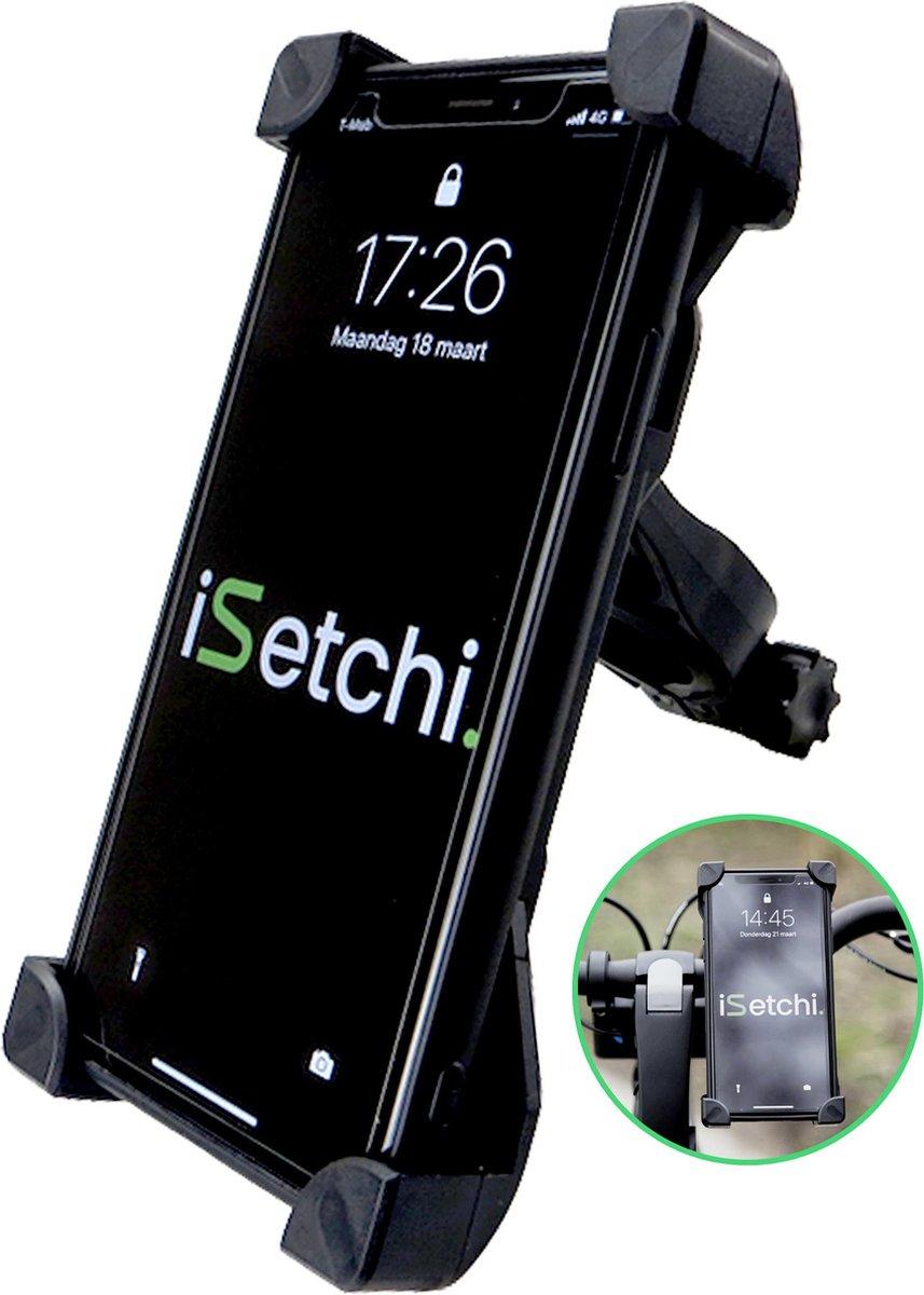 iSetchi® Telefoonhouder Fiets - Universeel - Draaibaar - Anti Shock & Vibratie -  Ook Voor Scooter &