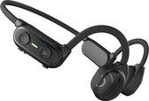 PowerLocus Bone Conduction oordopjes - OpenEar Bluetooth oordopjes met Microfoon - Zwart